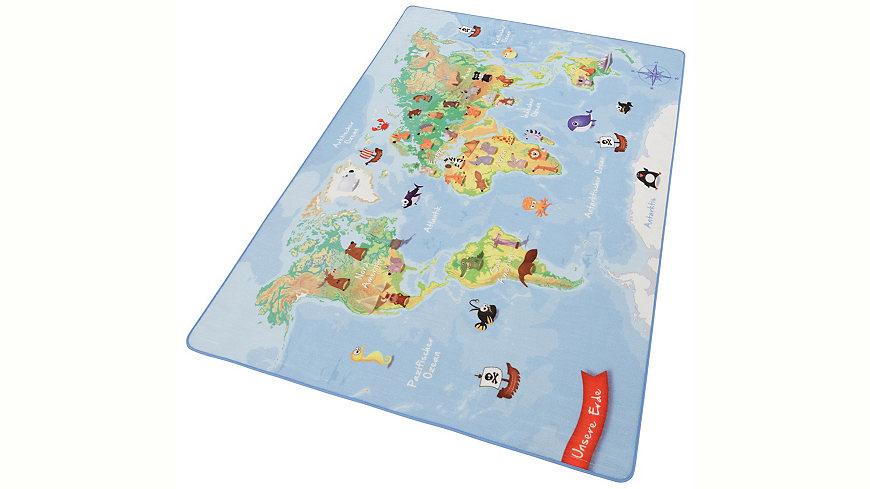 KinderTeppich »Weltkarte W3«  teppstore