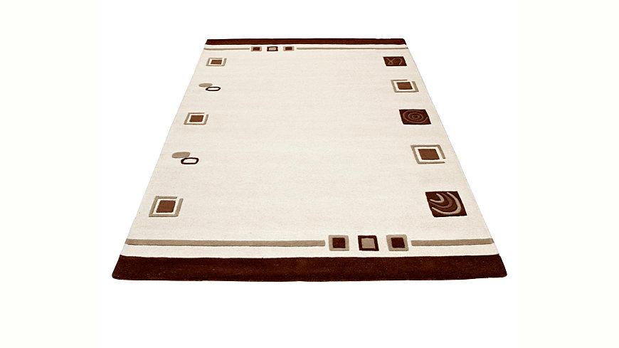 Teppich, Theko, »TULSIPUR«, handgearbeitet, reine