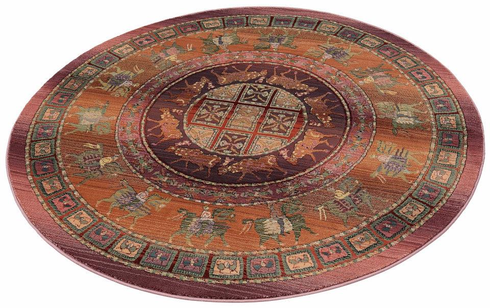 Oriental Weavers Orientteppich »Gabiro Pazyryk« blau, rund, Ø 200cm