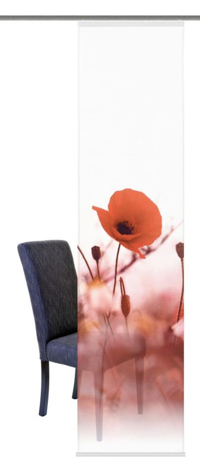 HOME WOHNIDEEN Schiebe-Vorhang »Virginia« rot, H/B 245/60cm