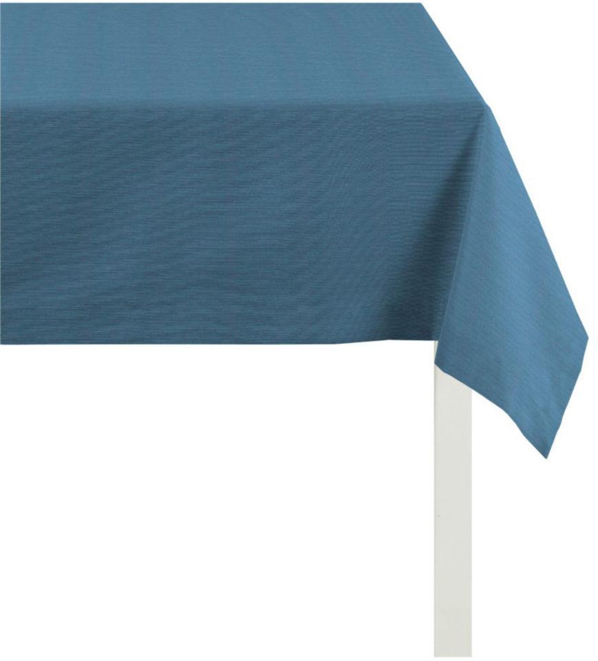 Apelt Tischdecke »TIZIAN Uni Rips« blau